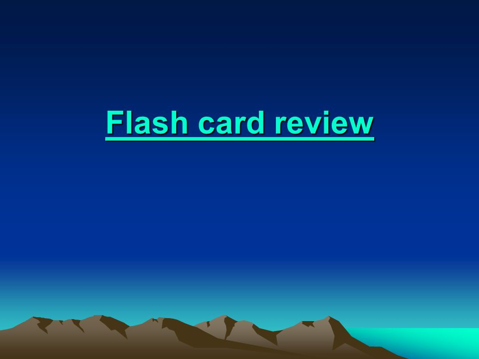 Flash card review Flash card review