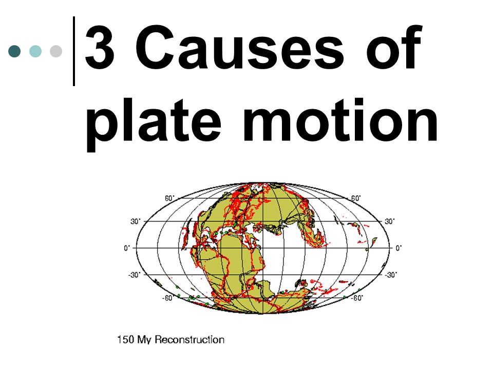3 Causes of plate motion