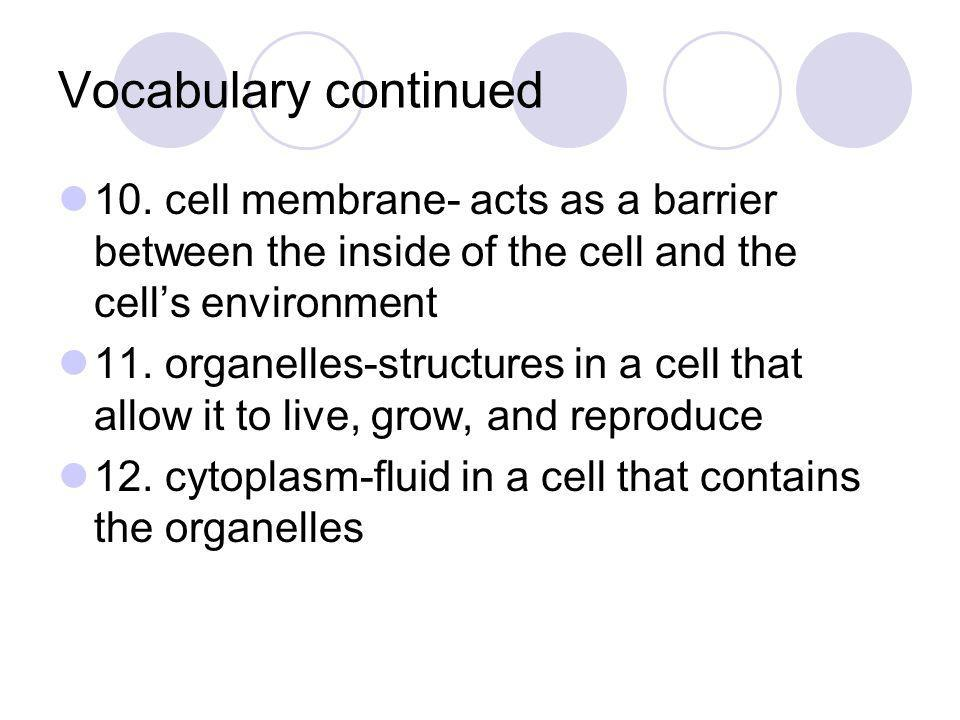Cell organelles 7.