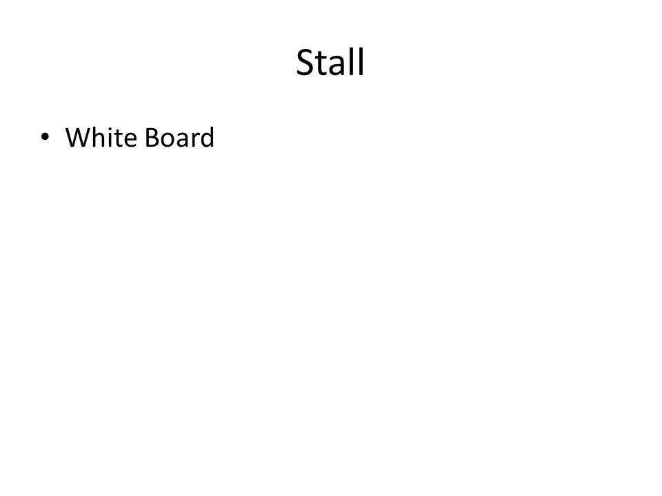 Stall White Board