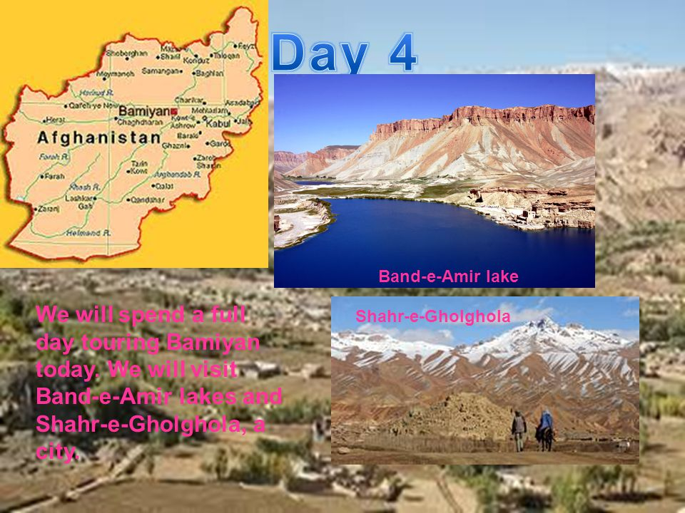 We will spend a full day touring Bamiyan today.