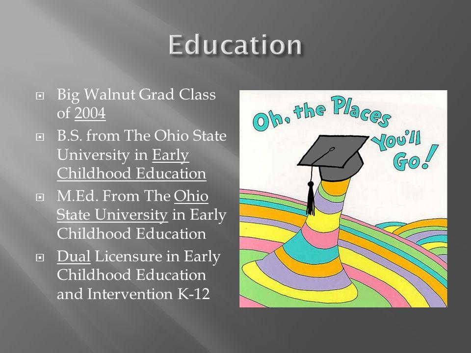  Big Walnut Grad Class of 2004  B.S.