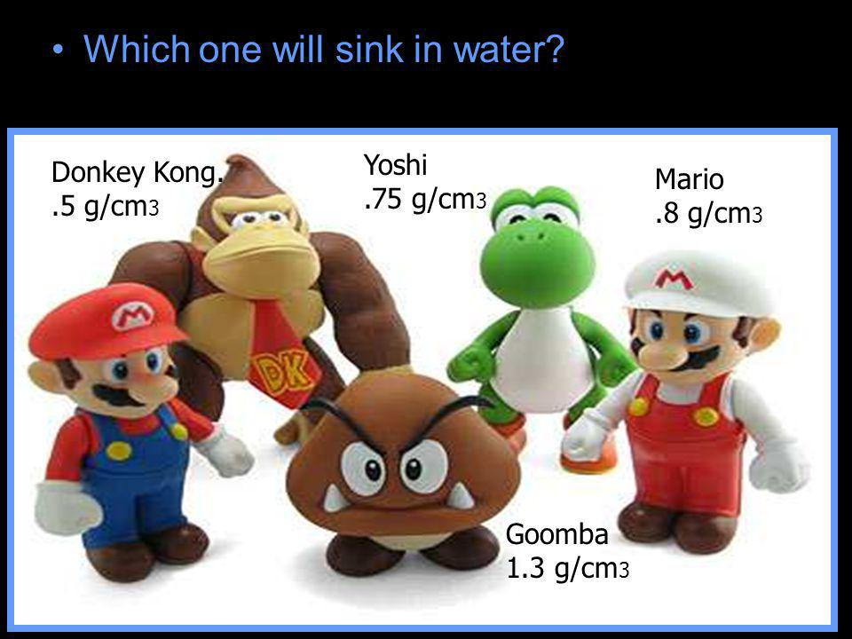 Which one will sink in water.