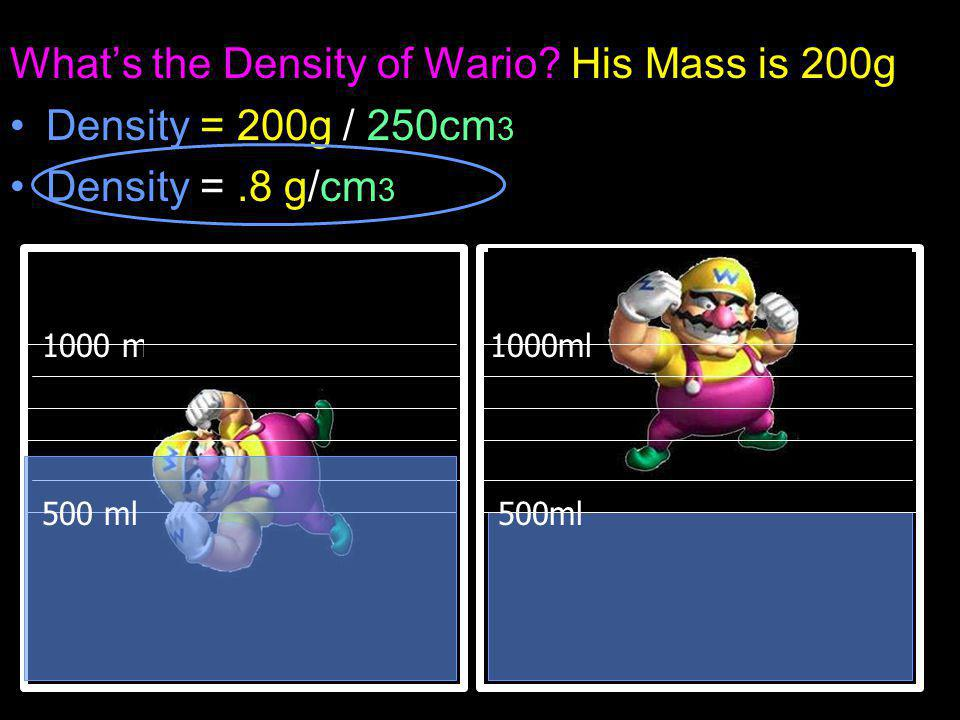 What's the Density of Wario.