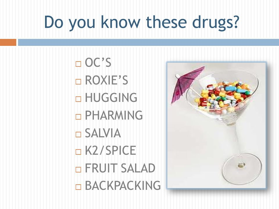 Do you know these drugs.