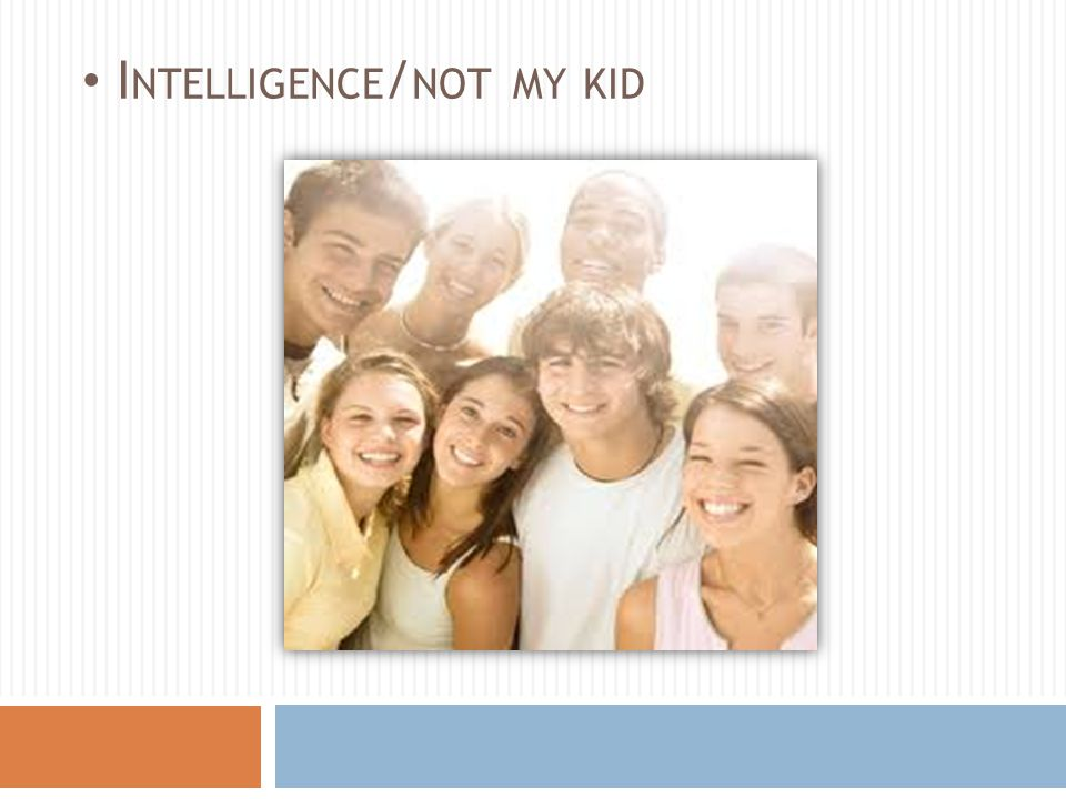 I NTELLIGENCE / NOT MY KID