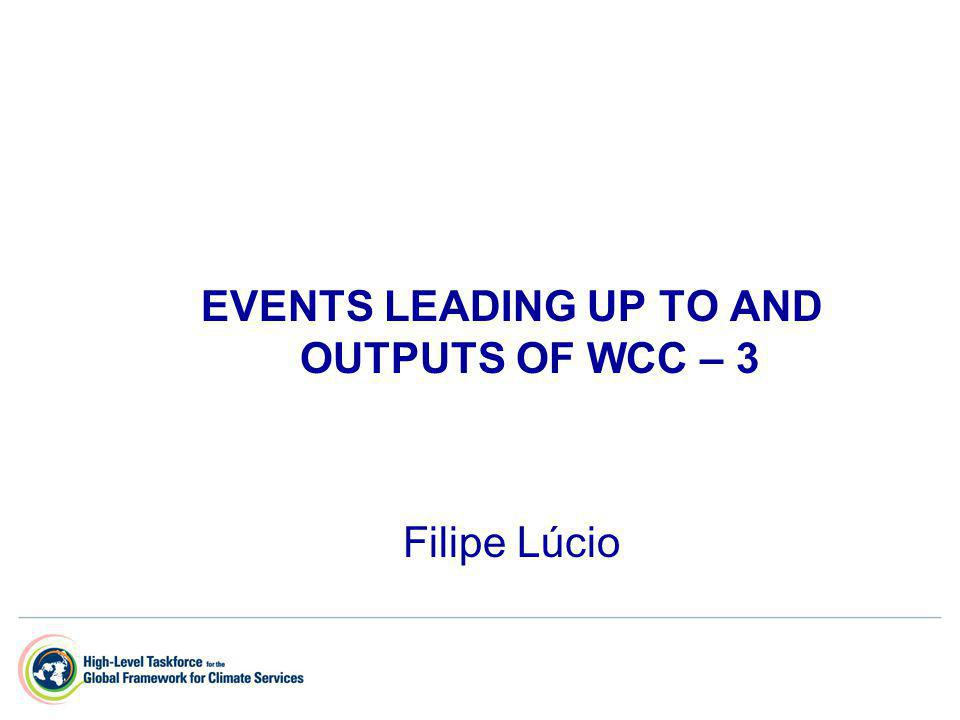 EVENTS LEADING UP TO AND OUTPUTS OF WCC – 3 Filipe Lúcio