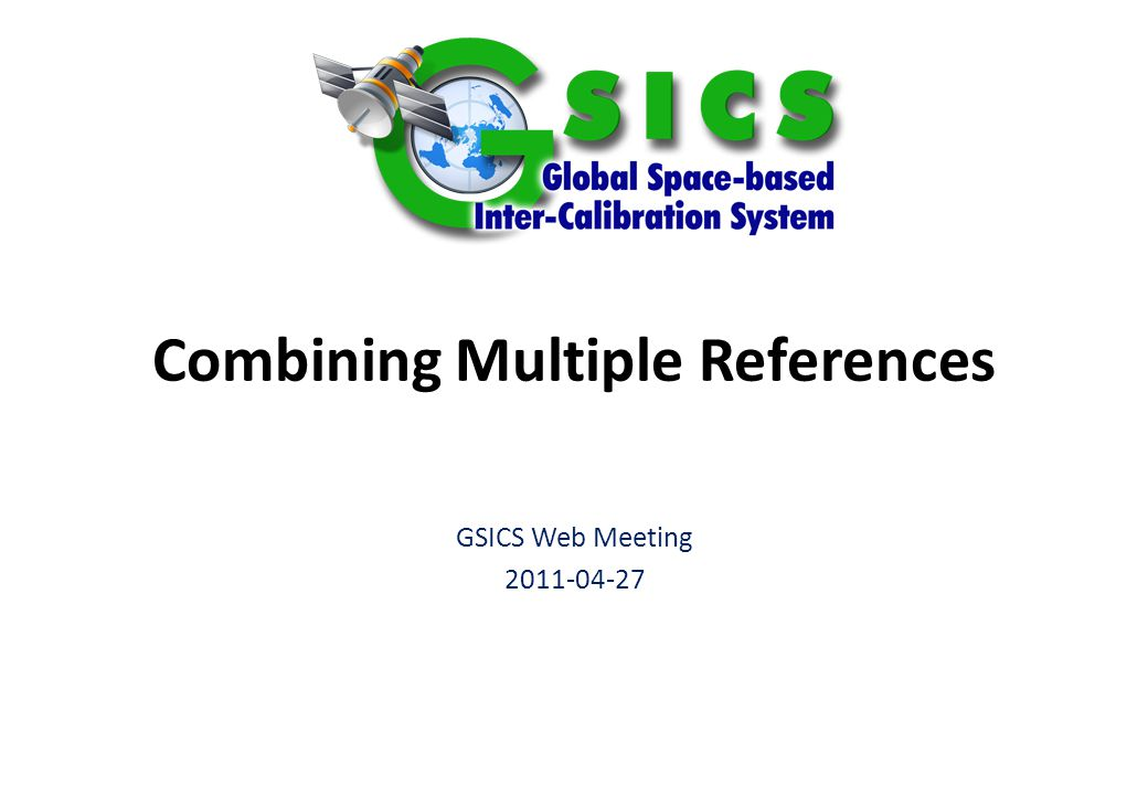 Slide: 2 10 October 2014 Advantages of multiple references Robustness – In case of failure of one reference – Allows transition between references – e.g.