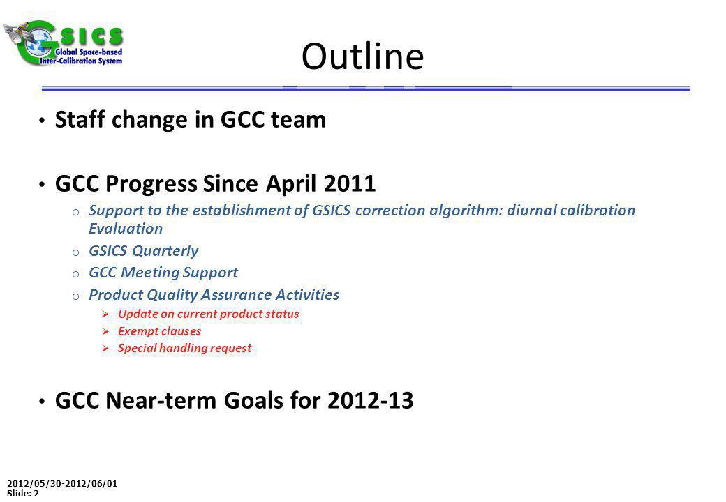 2012/05/30-2012/06/01 Slide: 3 Staff Change in GCC Dr.