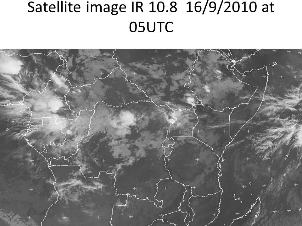 Satellite image IR 10.8 16/9/2010 at 05UTC