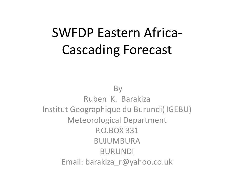ECMWF 6-hour Rainfall Model Forecast over Burundi on 01/04/2013 ( 06UTC-12UTC)