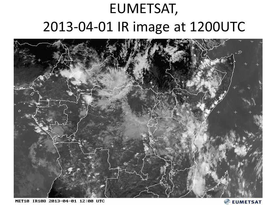 EUMETSAT, 2013-04-01 IR image at 1200UTC