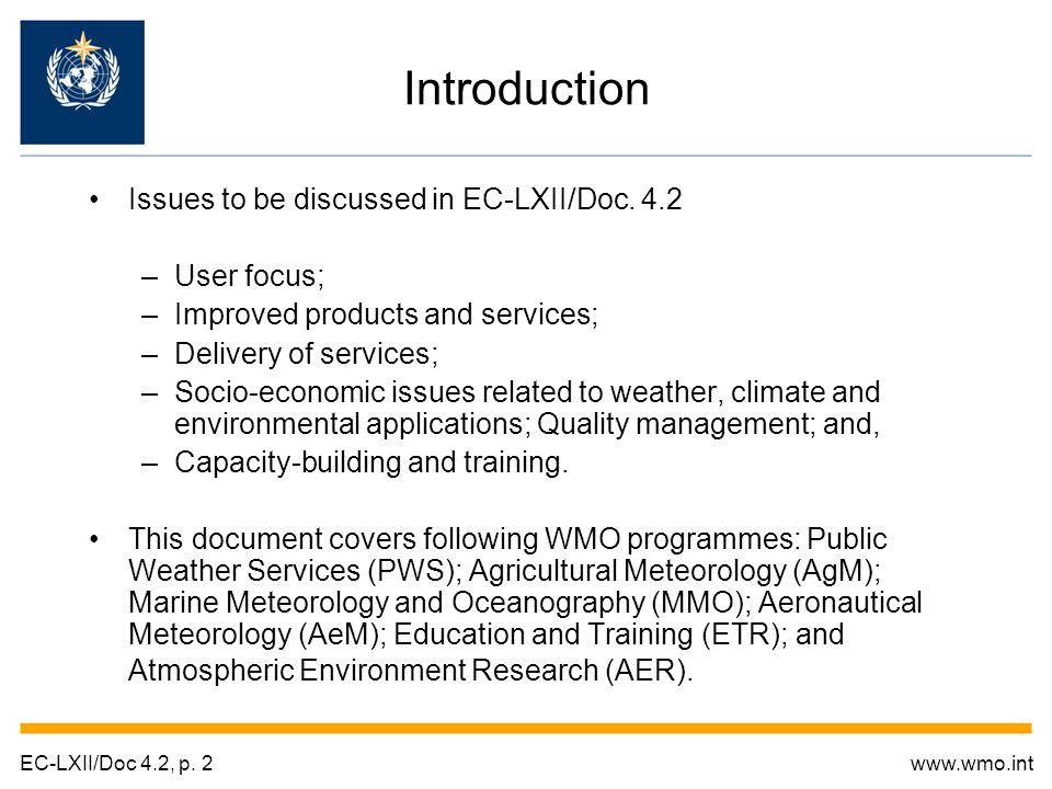 Thank you EC-LXII/Doc 4.2, p. 23www.wmo.int