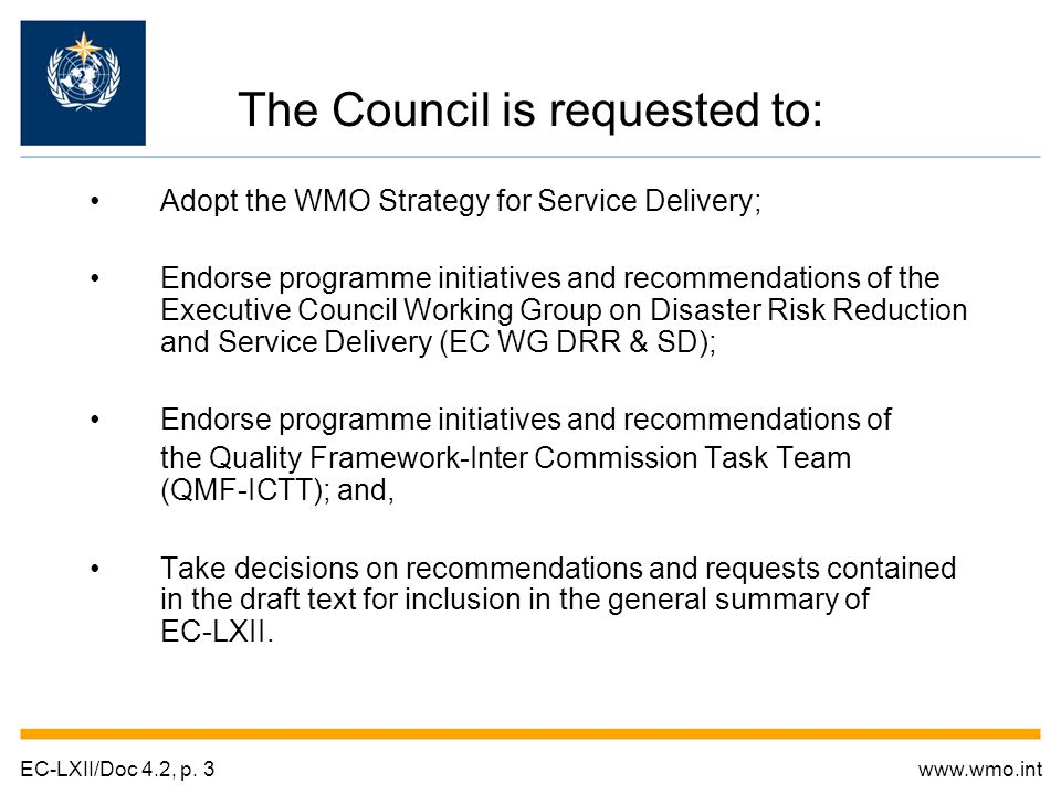 The Council is also requested to: Approve the publication of Vol.