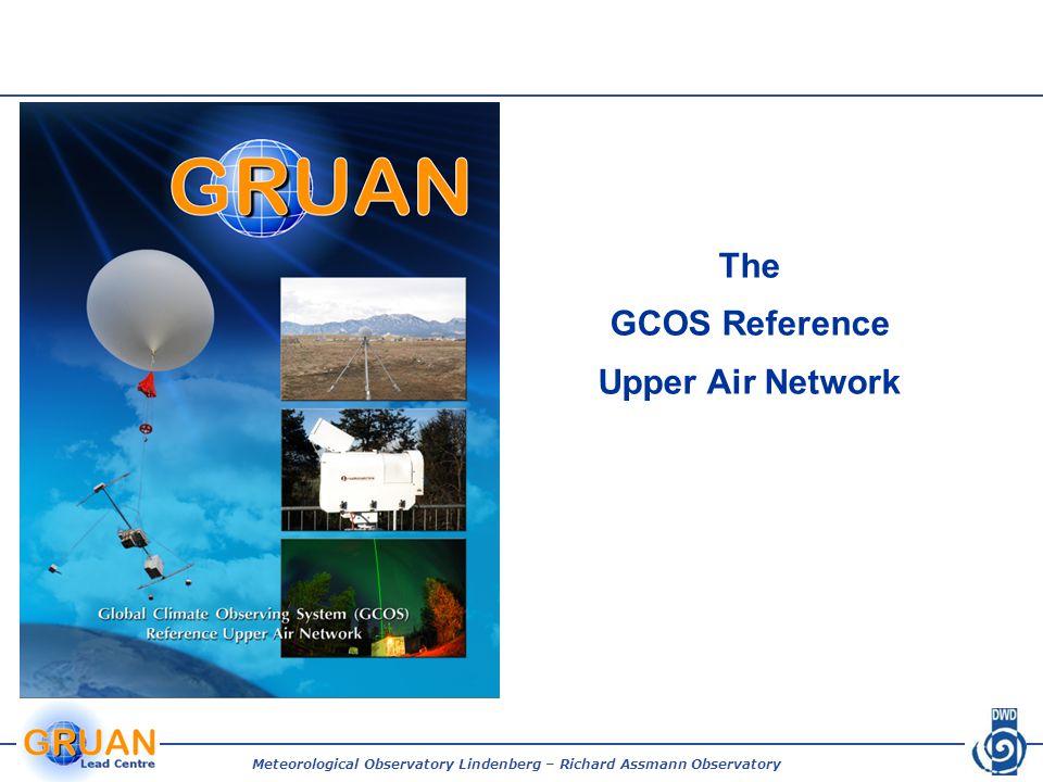 Meteorological Observatory Lindenberg – Richard Assmann Observatory What is GRUAN.