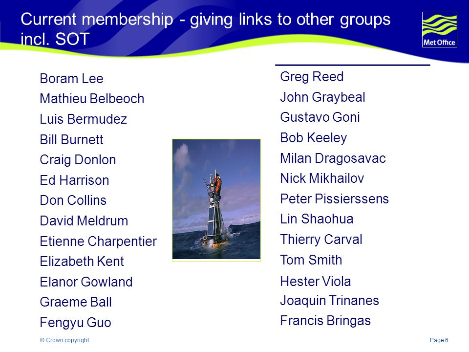 Page 6© Crown copyright Current membership - giving links to other groups incl.