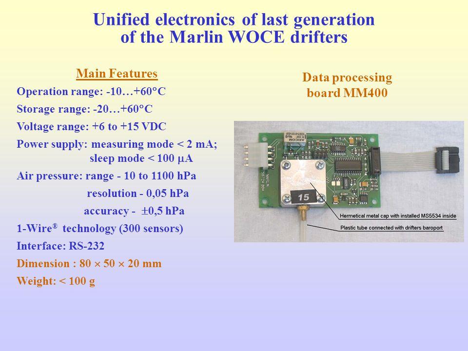 Data processing board MM400 Main Features Operation range: -10…+60  C Storage range: -20…+60  C Voltage range: +6 to +15 VDC Power supply: measuring