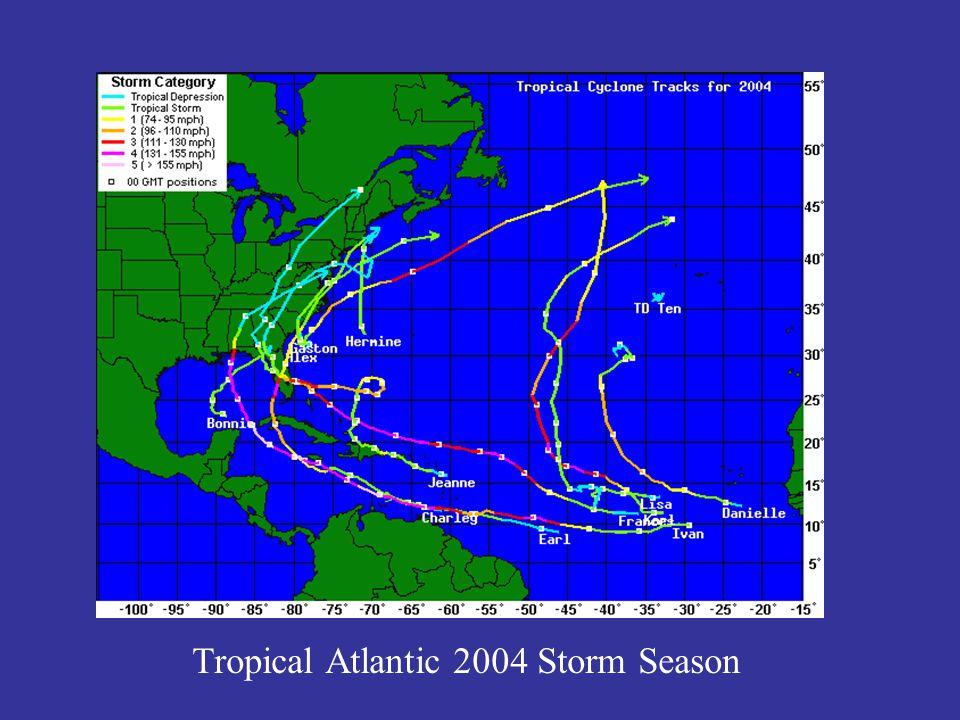 Tropical Atlantic 2004 Storm Season