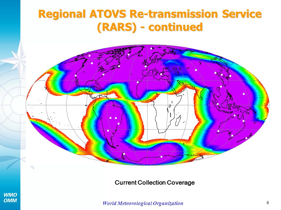 7 World Meteorological Organization Regional ATOVS Re-transmission Service (RARS) - continued Predicted Collection Coverage end-2008