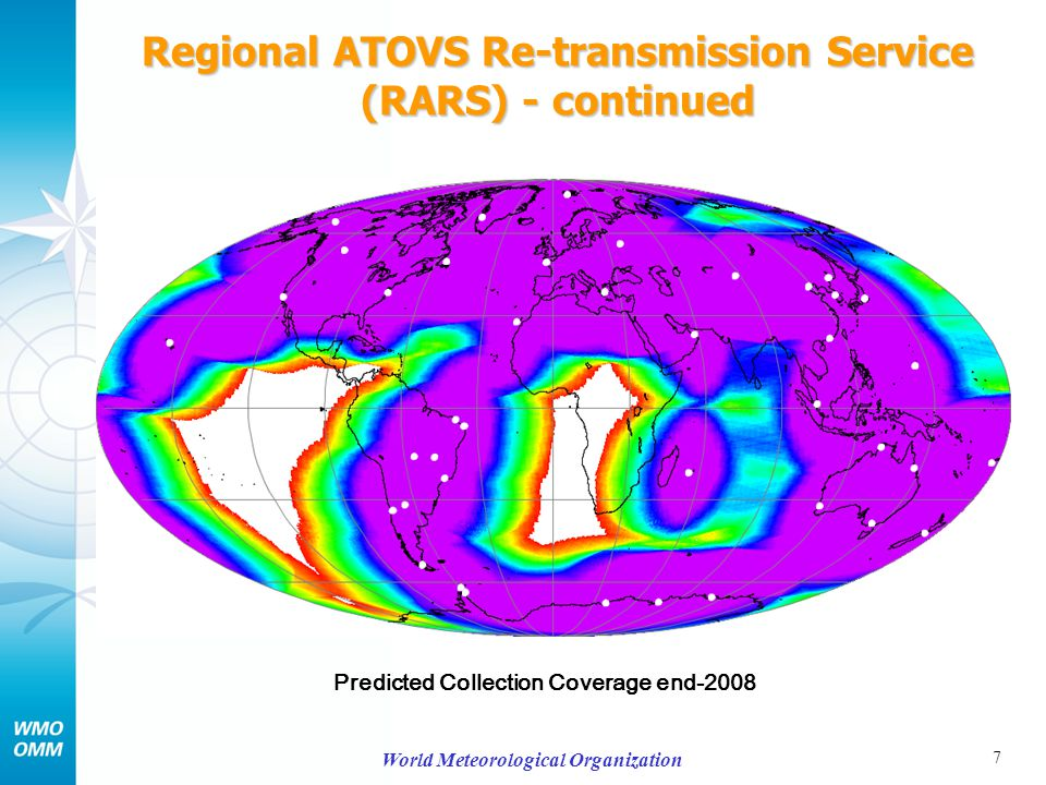 8 World Meteorological Organization Regional ATOVS Re-transmission Service (RARS) - continued Predicted Collection Coverage end-2009