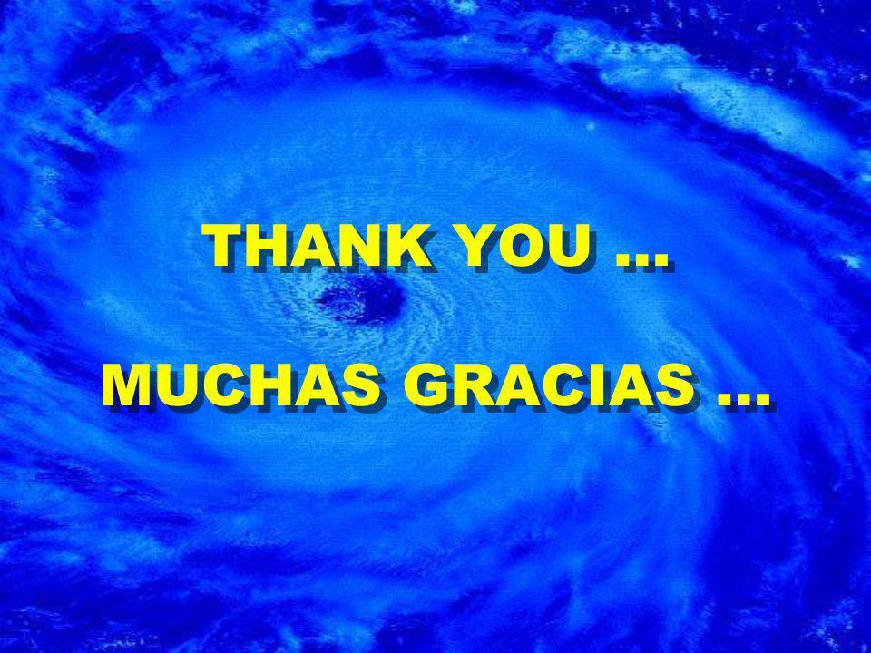 THANK YOU … MUCHAS GRACIAS …