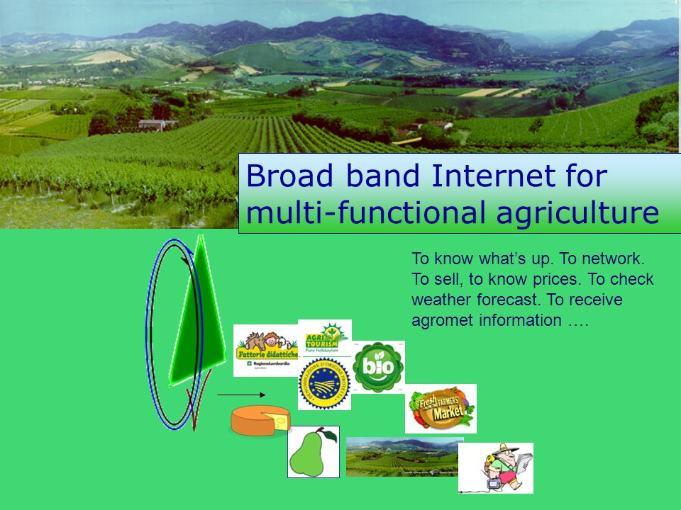 Broad band Internet for multi-functional agriculture output To know what's up.