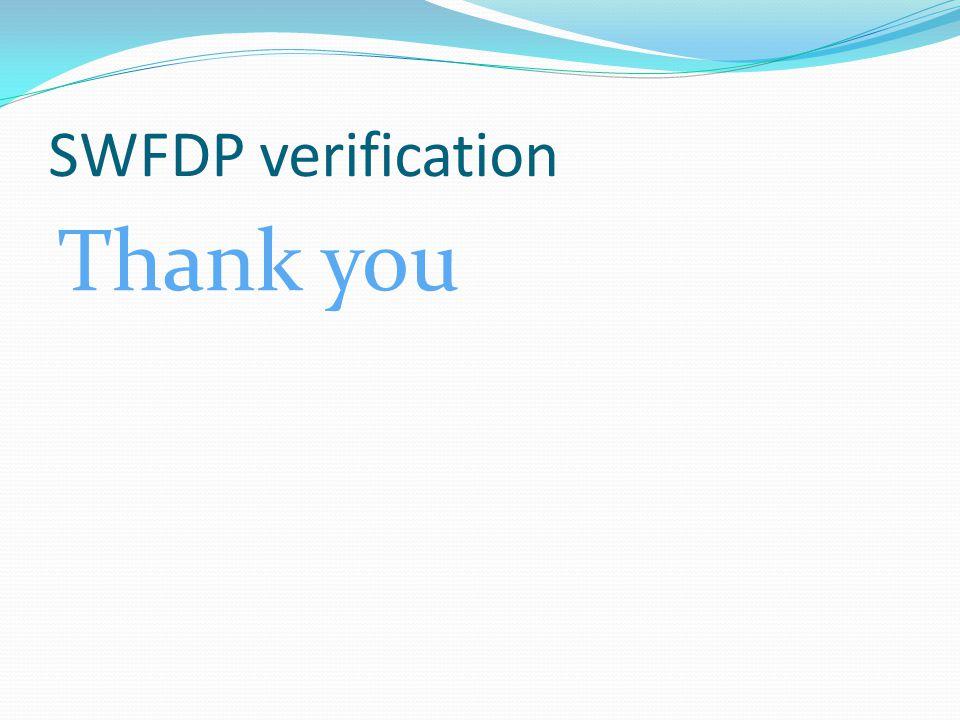 SWFDP verification Thank you