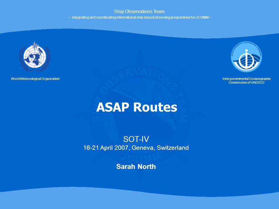 ASAP ship routes continue to be predominantly focused on two geographical areas of operation – the North Atlantic and the Western Pacific – although research ships are also contributing occasional upper air soundings in the Southern and Indian Oceans.