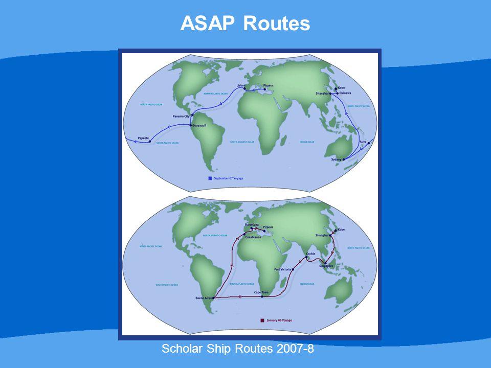 Scholar Ship Routes 2007-8 ASAP Routes