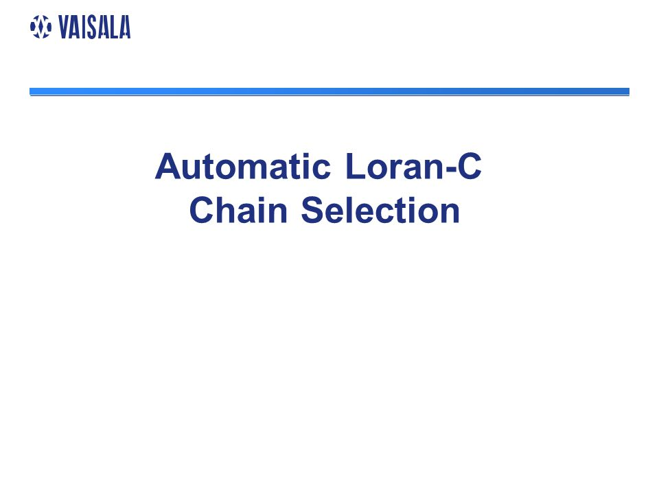 Automatic Loran-C Chain Selection