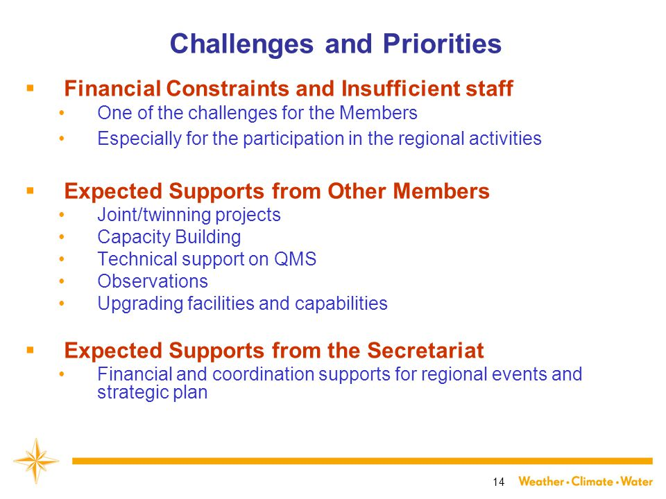 14 Challenges and Priorities  Financial Constraints and Insufficient staff One of the challenges for the Members Especially for the participation in the regional activities  Expected Supports from Other Members Joint/twinning projects Capacity Building Technical support on QMS Observations Upgrading facilities and capabilities  Expected Supports from the Secretariat Financial and coordination supports for regional events and strategic plan