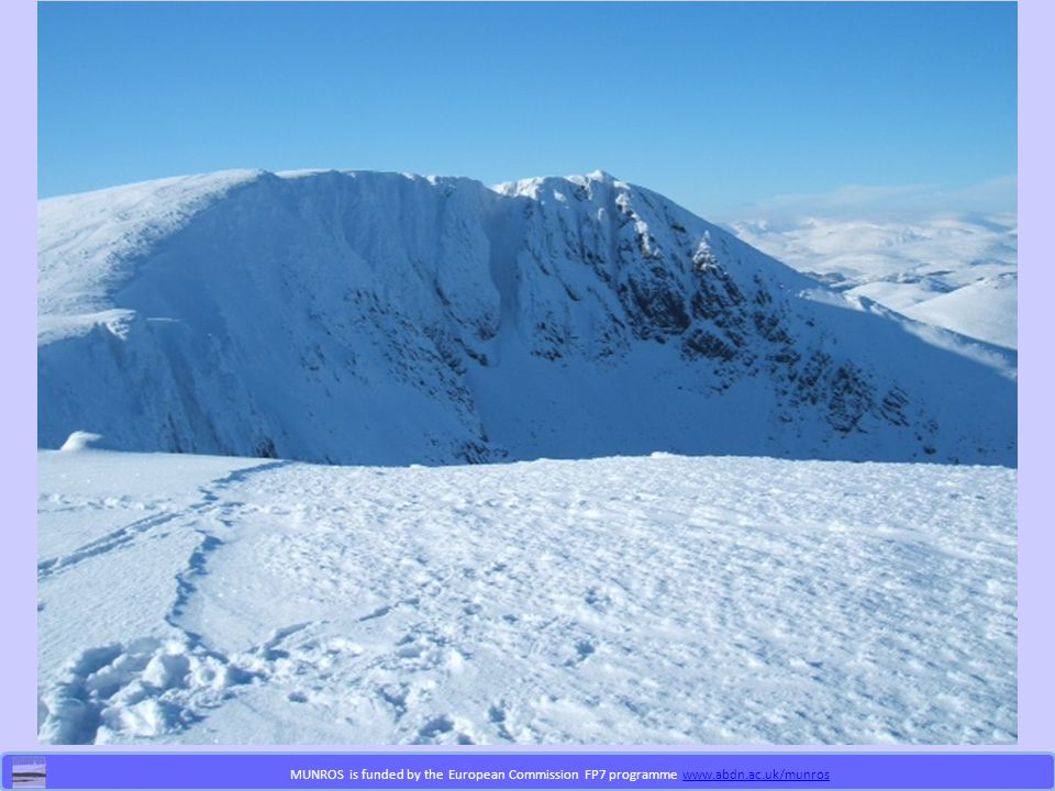 MUNROS is funded by the European Commission FP7 programme www.abdn.ac.uk/munroswww.abdn.ac.uk/munros Project Aims Identify the most important (numbers and contribution) of the new professional roles Detail the nature, scope and contribution of these new professional roles Evaluate their impact on clinical practice and outcomes and identify their scope to improve the integration of care Conduct economic evaluation to identify the cost effectiveness of the new professional roles Identify optimal models for delivery of health care Explore consequences of these for management of human resources and workforce planning