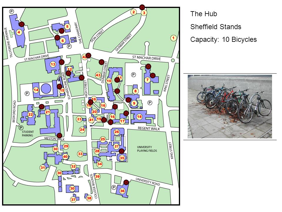 The Hub Sheffield Stands Capacity: 10 Bicycles