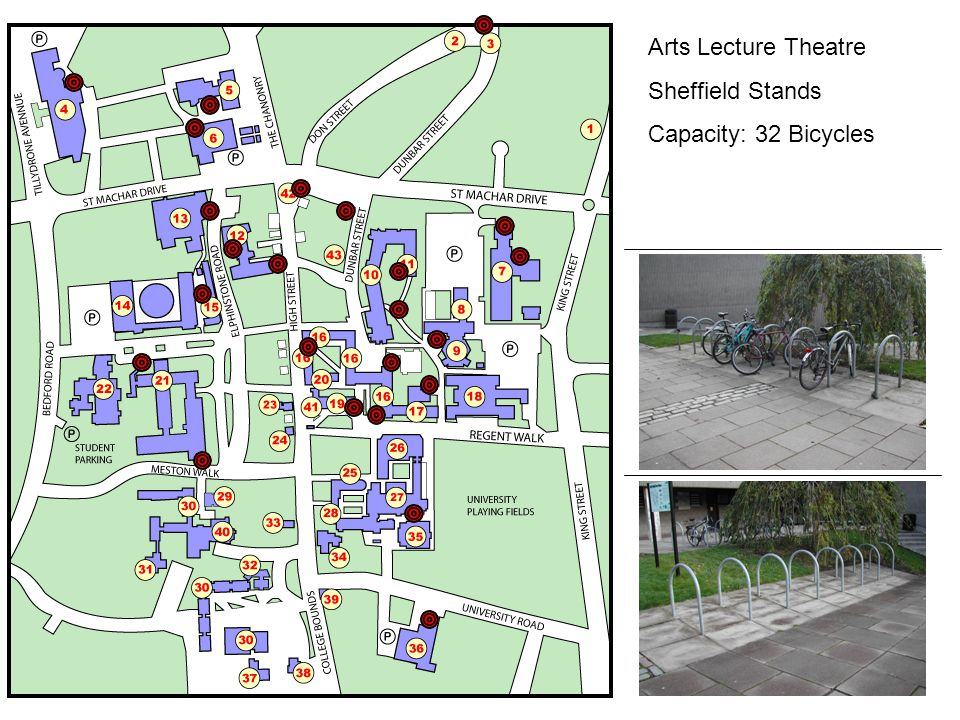 Arts Lecture Theatre Sheffield Stands Capacity: 32 Bicycles