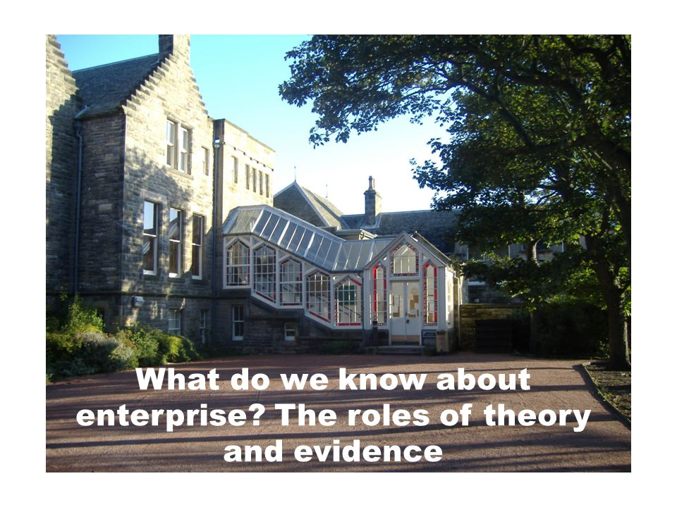 What do we know about enterprise The roles of theory and evidence