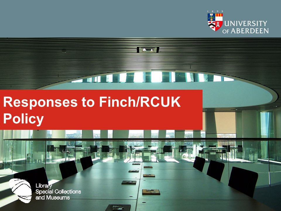Responses to Finch/RCUK Policy