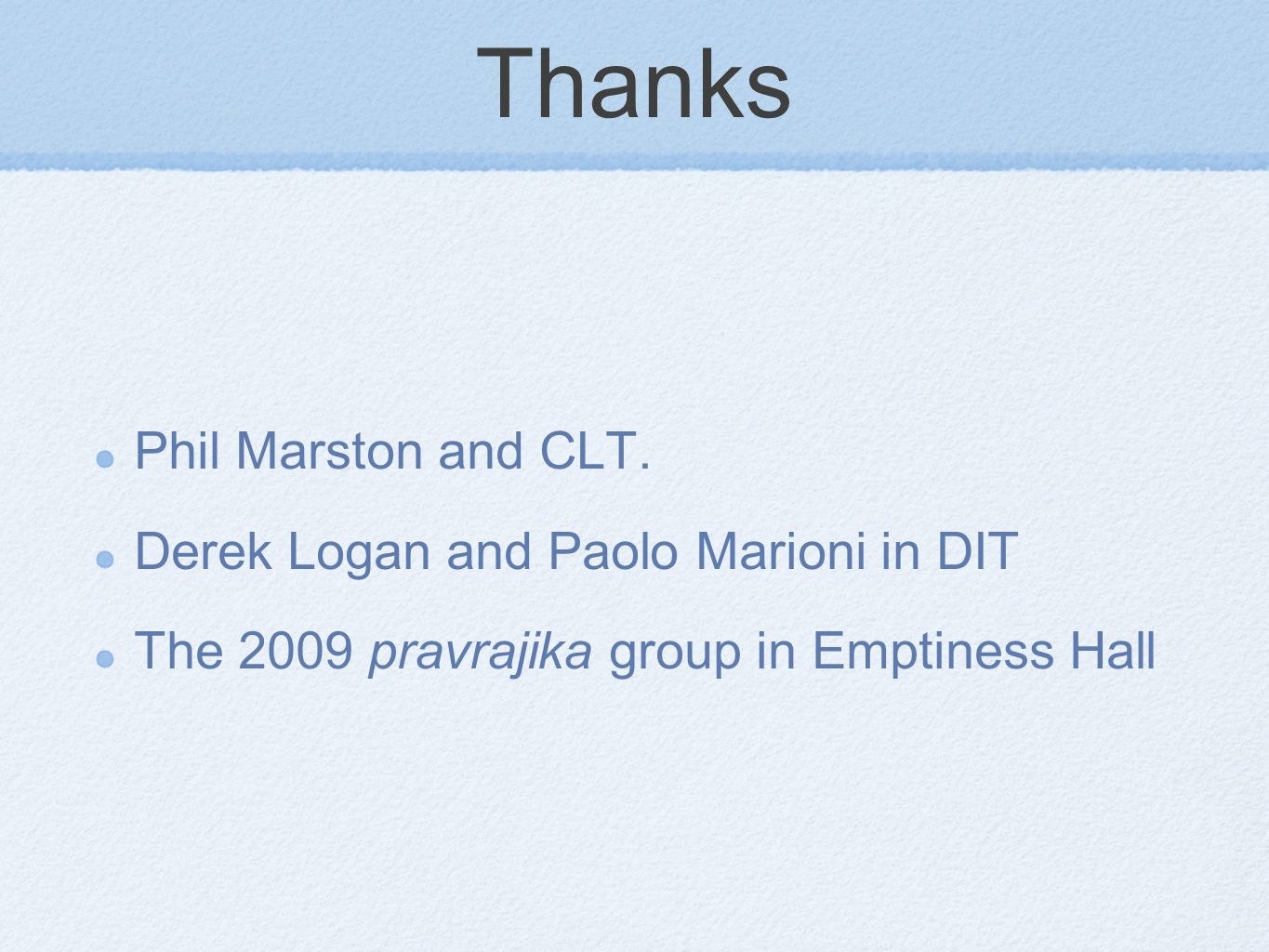 Thanks Phil Marston and CLT.