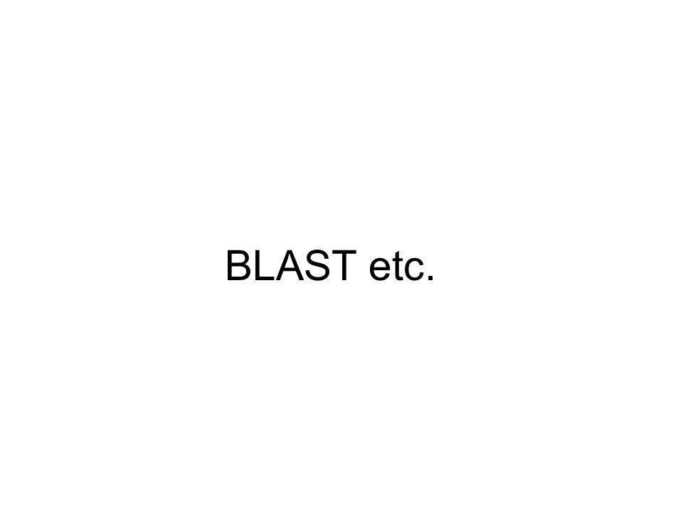 BLAST etc.