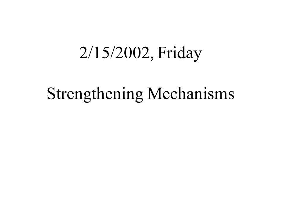 2/15/2002, Friday Strengthening Mechanisms
