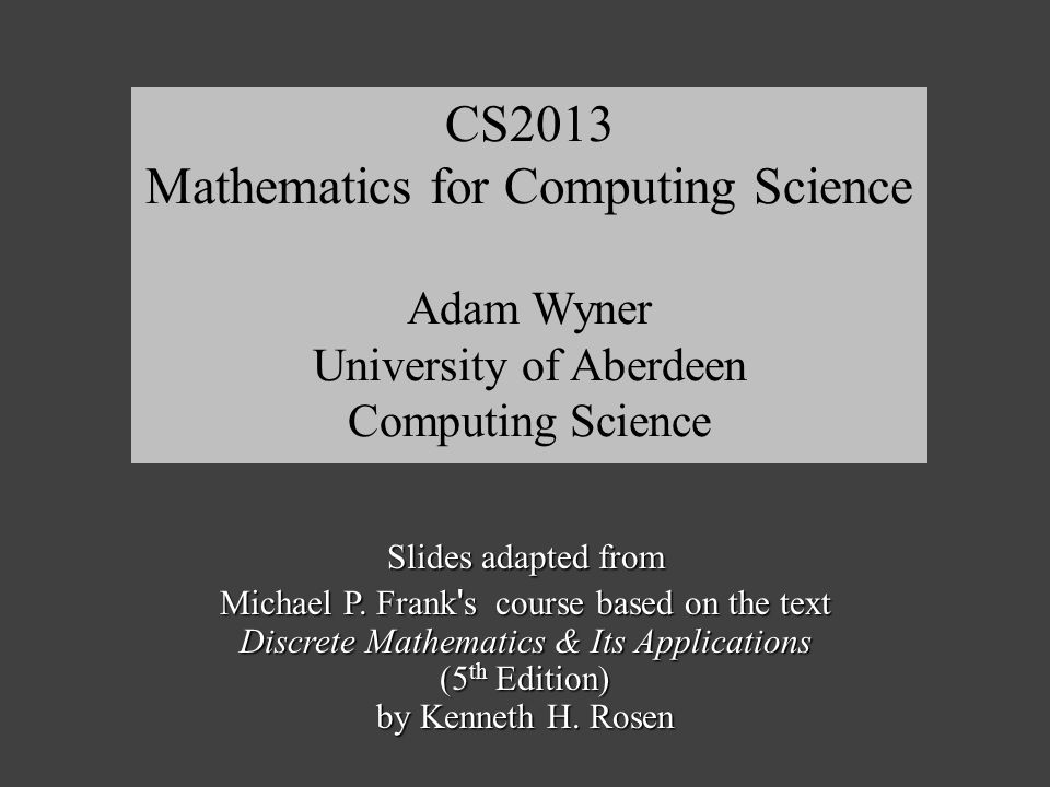 Fall 2013Frank / van Deemter / Wyner21 Quantifiers with Connectives Let the D be parking spaces at ABDN.
