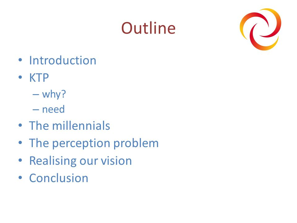 Outline Introduction KTP – why.