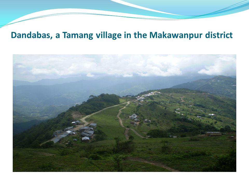 Dandabas, a Tamang village in the Makawanpur district