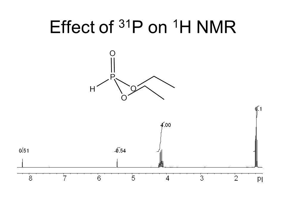 Effect of 31 P on 1 H NMR