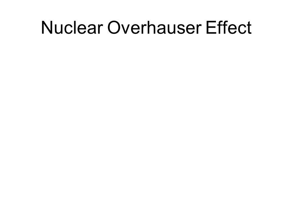 Nuclear Overhauser Effect