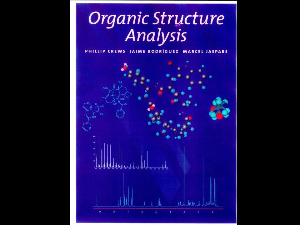 RELATIVE MERITS OF TECHNIQUES DATA MS 29 PEAKS IR12 PEAKS 1H NMR1 PEAK 13C NMR1 PEAK UV/VISO PEAKS More is less??