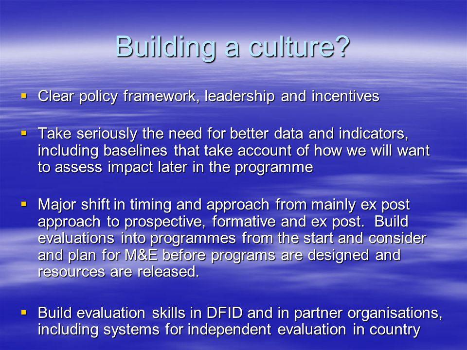 Building a culture.