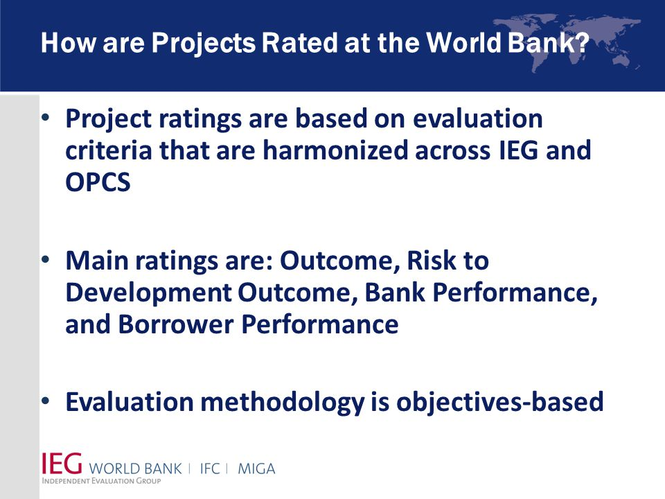 How are Projects Rated at the World Bank.