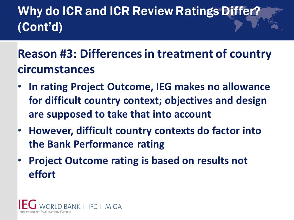 Why do ICR and ICR Review Ratings Differ.