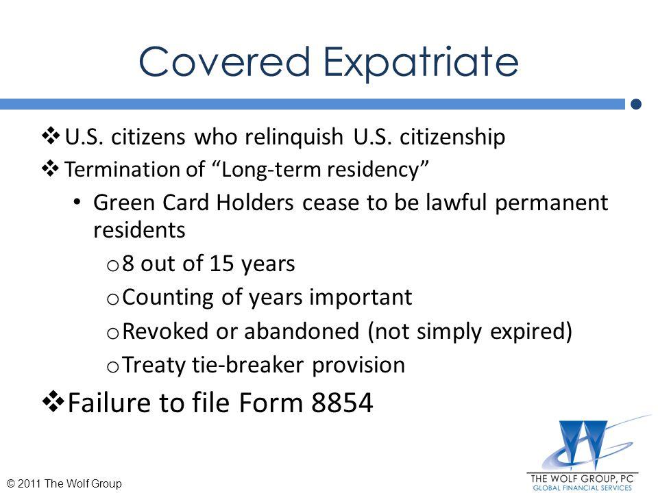 U.S.Gift/Estate Tax Consequences  U.S.