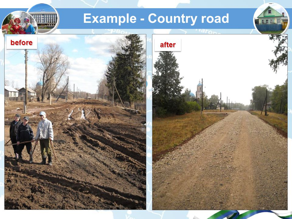 Example - Country road afterafter beforebefore